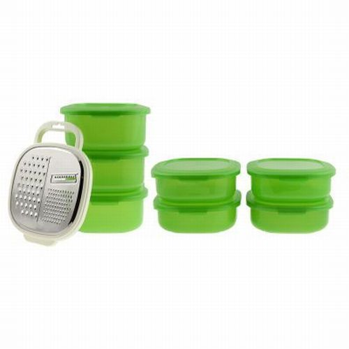 15pc Debbie Meyer Shred N Store Set Produce Fresh GreenBoxes Grater Shredder Lid