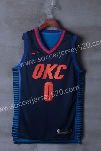 huge discount 5daad e662b Oklahoma City Thunder Dark Blue NBA Jersey   NBA jersey AAA ...