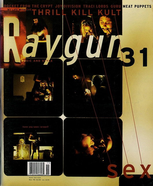 "cMag520 - Ray Gun Magazine cover ""My Life with the Thrill Kill Kult"" by Robert Hales / Issue 31 / November 1995"