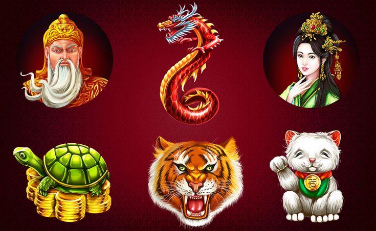 "Graphic design of symbols for the game slot-machine ""8 Lucky Charms"" http://artforgame.com/"