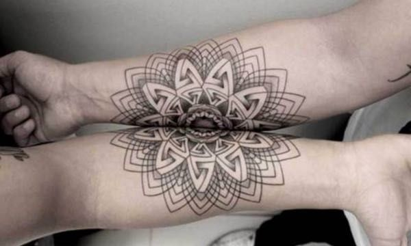 This Intricate Connecting Geom... is listed (or ranked) 5 on the list 28 Connecting Tattoos That Are Even Better Together