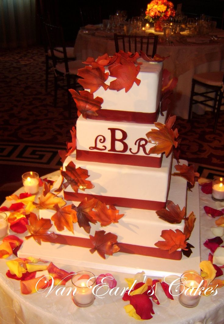 wedding cakes los angeles prices%0A Fall Wedding Cakes  Bing Images