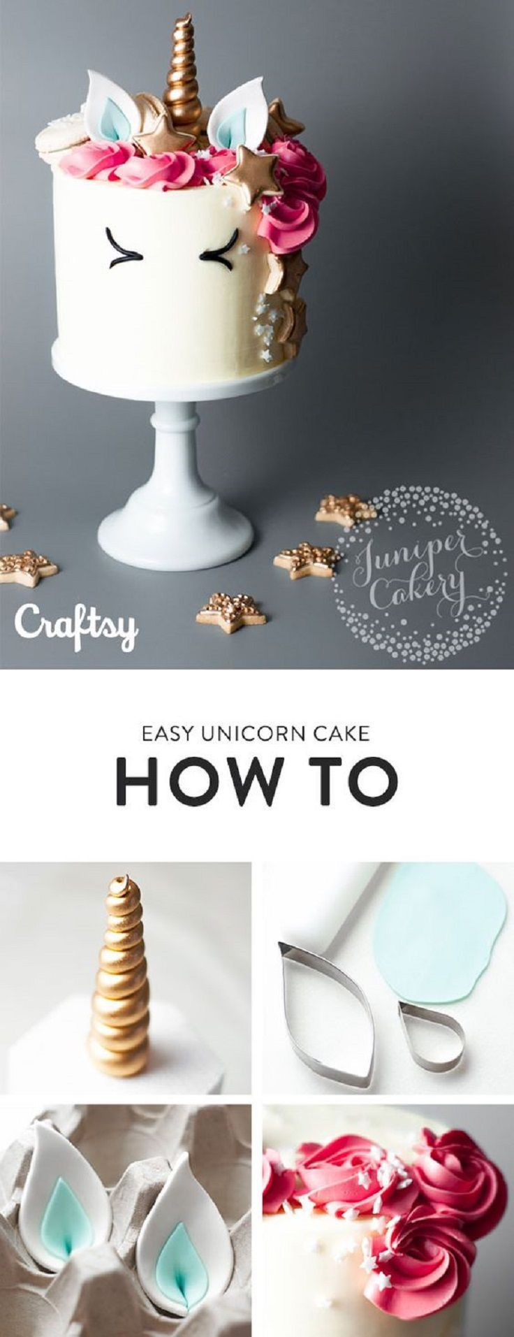 How to Make a Unicorn Cake - An Enchantingly Easy Tutorial - 15 Spring-Inspired Cake Decorating Tips and Tutorials (Rainbow Cake Decorating)