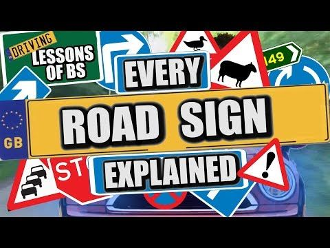 Every UK Road Sign and What They Mean! - YouTube