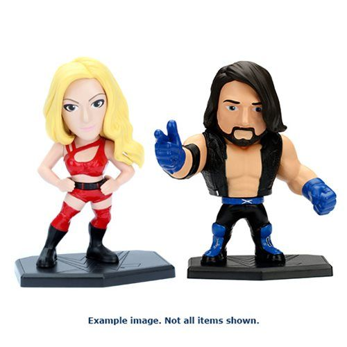 (affiliate link) WWE 4-Inch Metals Die-Cast Action Figure Wave 3 Case Your favorite superstar wrestlers join the Metals lineup from Jada Toys! Each wrestler stands 4-inches tall and are made from all die-cast metal. This WWE 4-Inch Metals Die-Cast Action Figure Wave 3 Case contains 4 individually packaged figures and may include the following: Roman Reigns AJ Styles  Charlotte  Subject to change