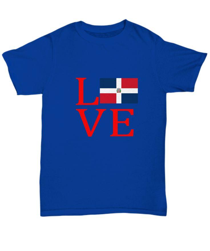 Dominican Republic DR Flag Love Uptown T-Shirt