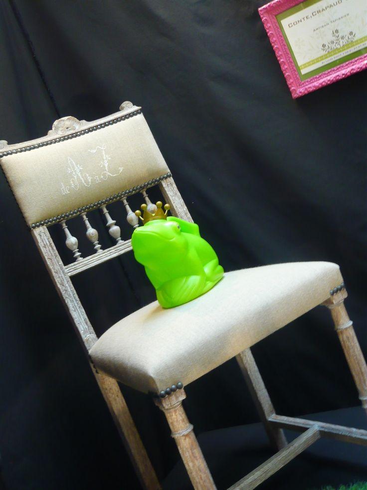 "Quelle belle chaise Henri II revisitée style "" Campagne Chic !"