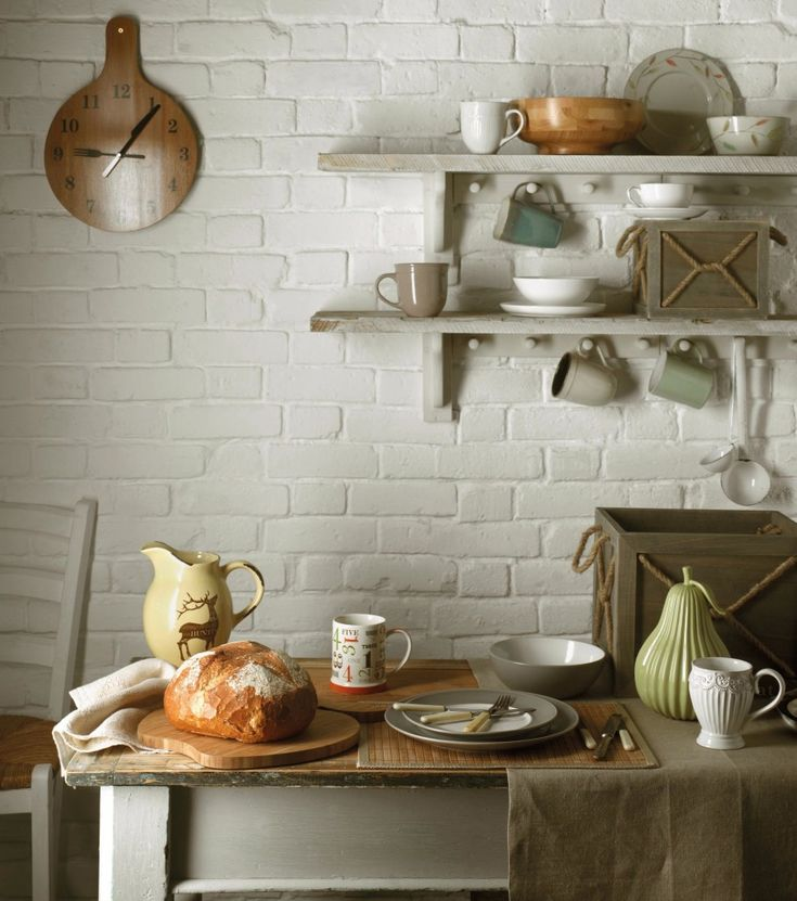 Stunning Traditional Style IKEA Small Kitchen Decorating Ideas Offer  Weathered Wood Wall Mounted Shelves With Vintage Kitchen Appli.