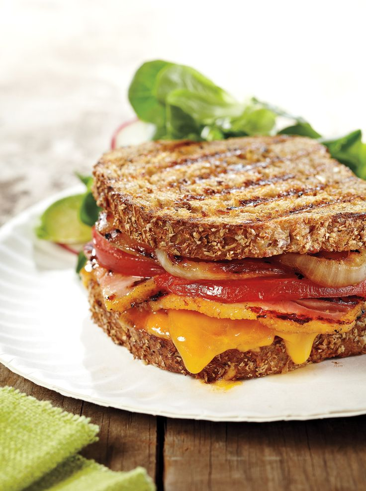 Bacon Onion Grilled Cheese