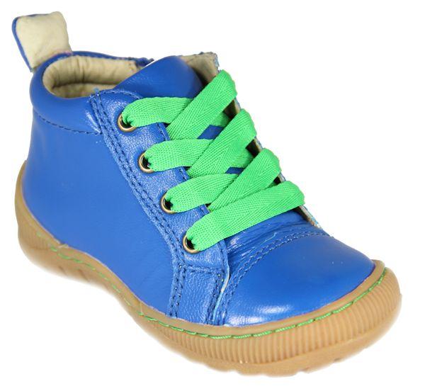Melton - Sko m/snøre og lynlås - Neon blå