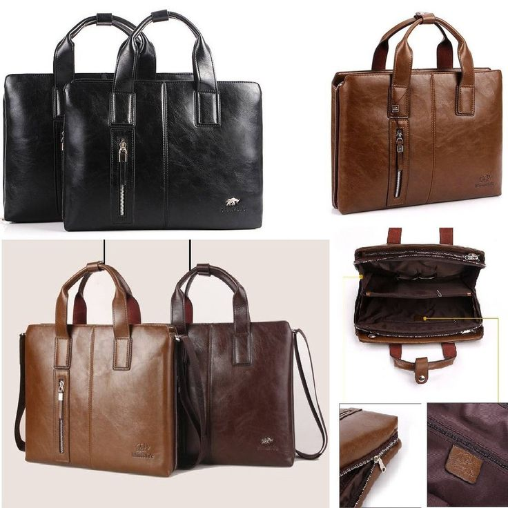 New Arrival Vintage Men Messenger Bag Commercial Accessories Briefcase Portable Bag Genuine Leather