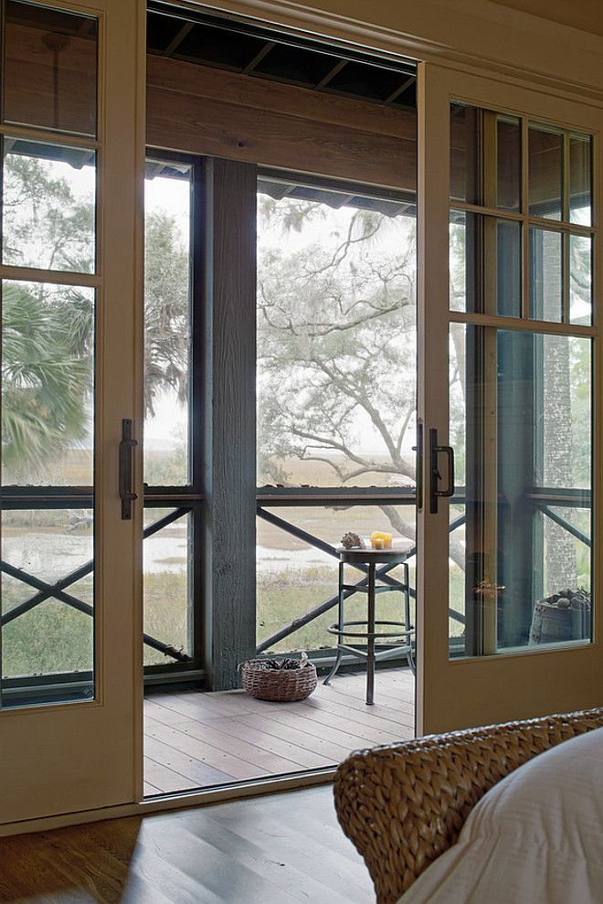Patio Sliding Doors. Gorgeous Patio Sliding Doors Leading to Screened Porch. Patio Sliding Door Ideas. Patio Sliding Door Photos. #Patio #SlidingDoors Wayne Windham Architect, P.A. Interiors by Gregory Vaughan, Kelley Designs, Inc. Photos by Atlantic Archives, Inc.