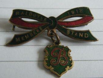 1918 Baldoyle annual badge (members' stand)