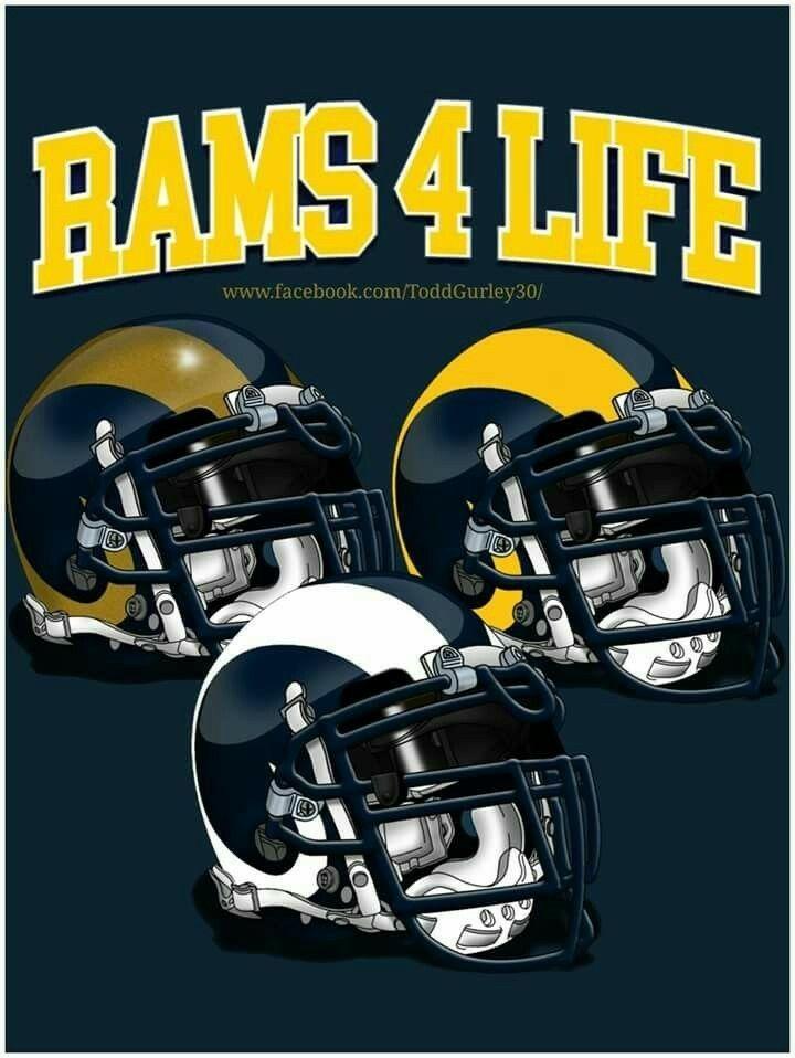 Pin By Kelly On La Rams Rams Football Nfl Football Teams Football Helmets