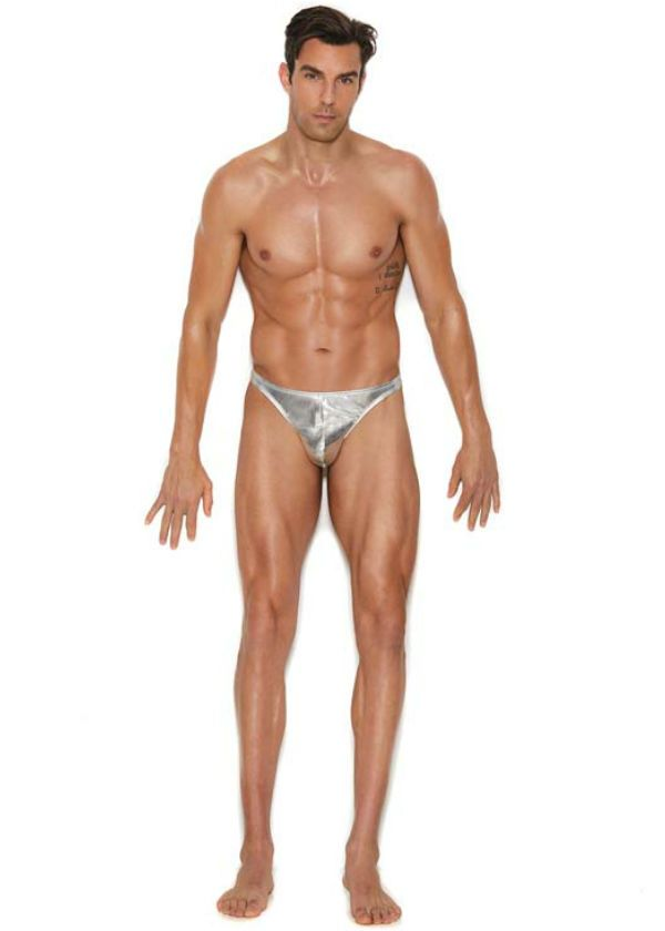 329a709570 Silver skimpy thong underwear for men