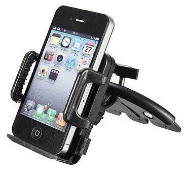 Car CD Dash Slot Mount Holder Dock For CellPhone GPS MP3 MP4 Home Phone Bracket Stand