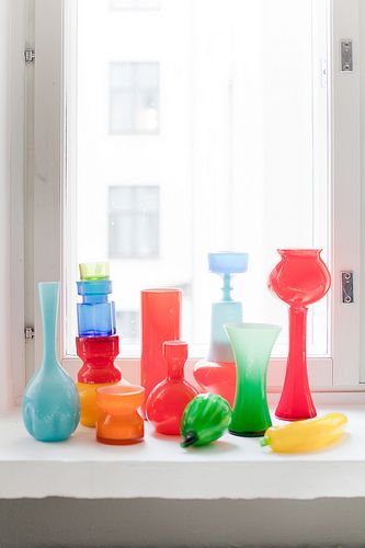 Collection of coloured glass