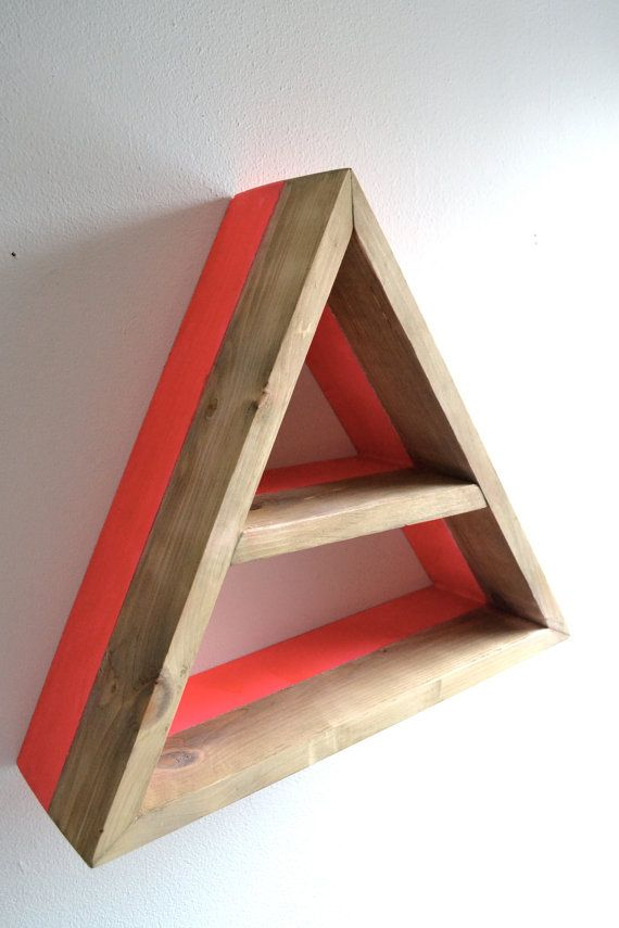 62 best shelving images on pinterest shelving wall shelves and room - Triangular bookshelf ...