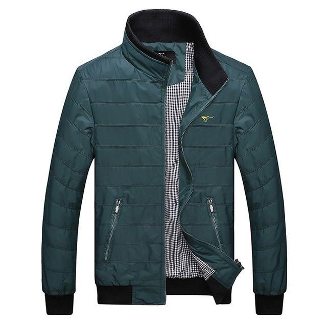 Men's Fashion Casual Plus Size Mandarin Collar Autumn Male Jacket | worth buying on AliExpress