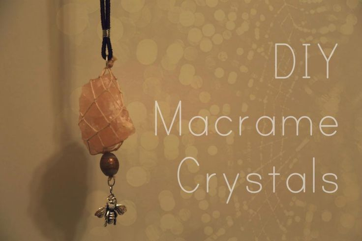 diy macrame crystal necklace - could do it with just the beige thread