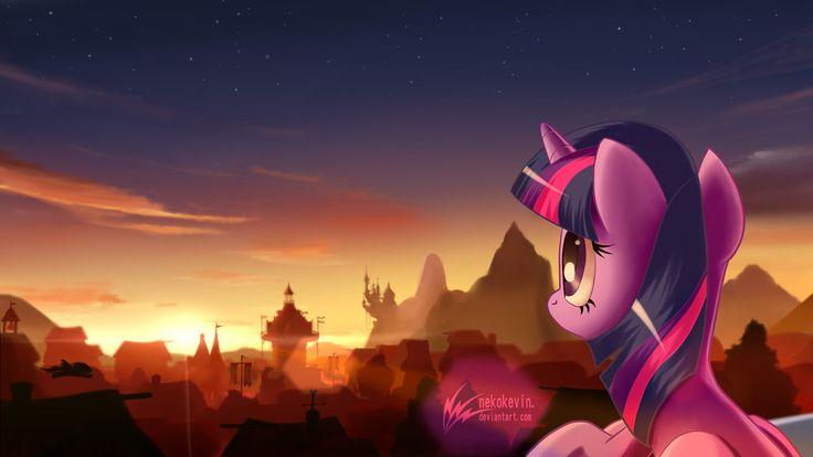 Twilight Sparkle at Ponyville twilight by nekokevin.deviantart.com on @DeviantArt