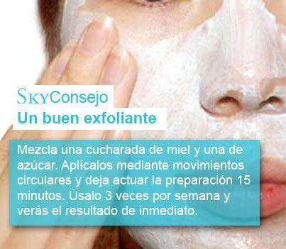 Consejo un buen exfoliante casero y natural para nuestro rostro. Miel y azucar, exfoliante casero natural por excelencia.