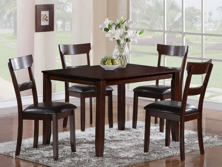 Henderson 5 Piece Dining Table And Chair Set By Crown Mark At Ivan Smith Furniture