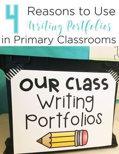 Does the thought of keeping a writing portfolio overwhelm you? Don't let them! Keeping writing portfolios in kindergarten and first grade are a great tool for both teachers and students!