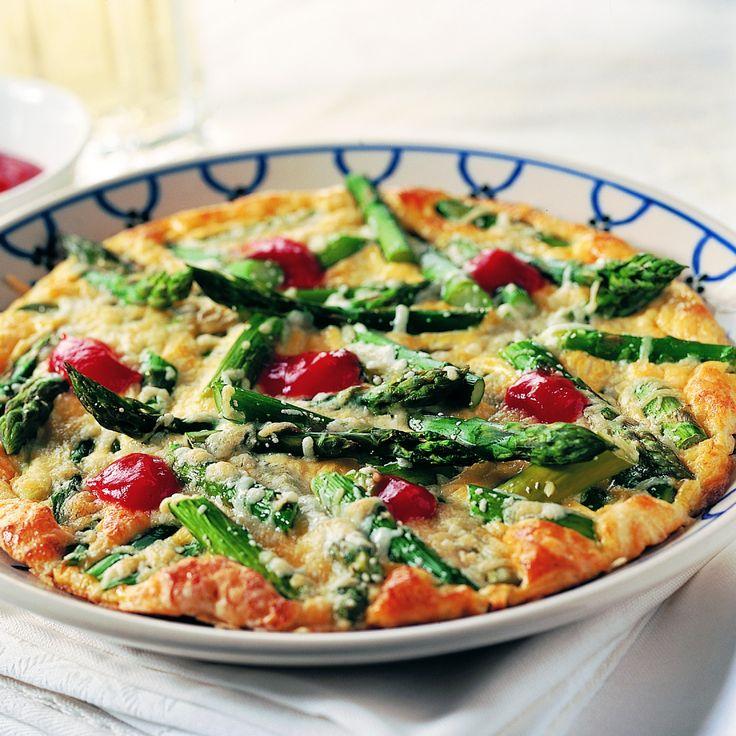 Dag 2 - ontbijt: Omelet met groene asperges en kaas #aspergechallenge