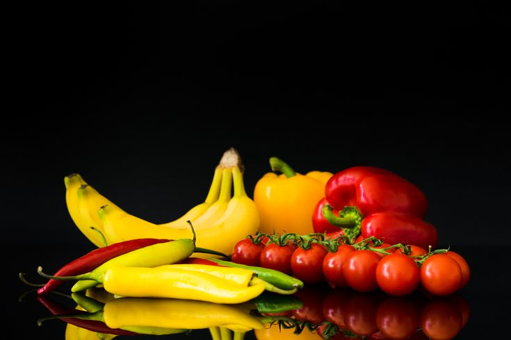 Free Image: Fruits and Vegetables Still Life and Black Background | Download more on picjumbo.com!