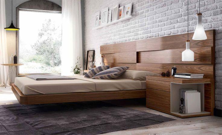 Dormitorio Moderno Loop Material: DM Densidad Media Muebles realizados en chapa de nogal... Desde Eur:2812 / $3739.96
