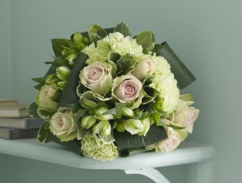 Spring Flower Bouquet With Tulips And Soft Pink Roses Barley Sugar Jane Packer