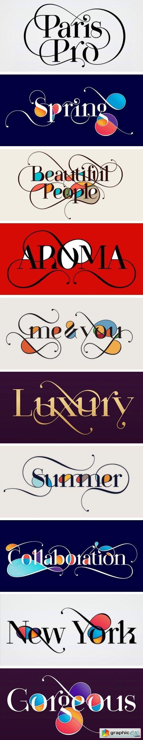 Paris Pro Font Family - 13 Fonts $620
