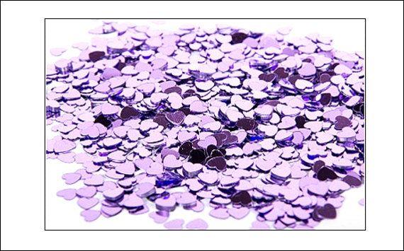Lilac Hearts table confetti, weddings, wedding supplies, wedding decorations, table decorations, UK seller