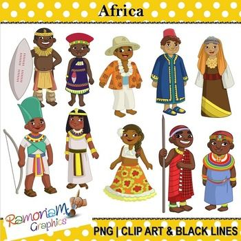 This set contains a boy and girl dressed in the traditional clothes of the country they are representing. Each image is PNG & 300dpi in Black & White, colored with colored outlines, colored with black outlines.