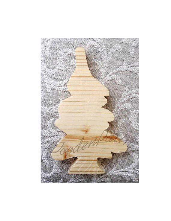 wooden freestanding  Christmas Tree decoration blank plain for