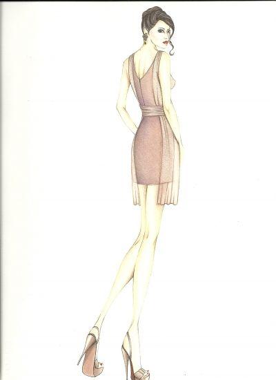 Disegni figurini Moda degli allievi dell'Accademia di Moda e Design - disegno del mese - Aprile 2012