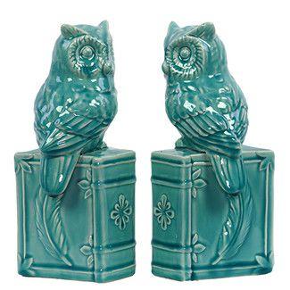 Urban-Trends-Ceramic-Owl-Book-End
