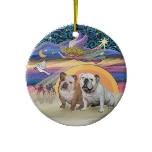 17 Best Images About English Bulldog Christmas Ornaments