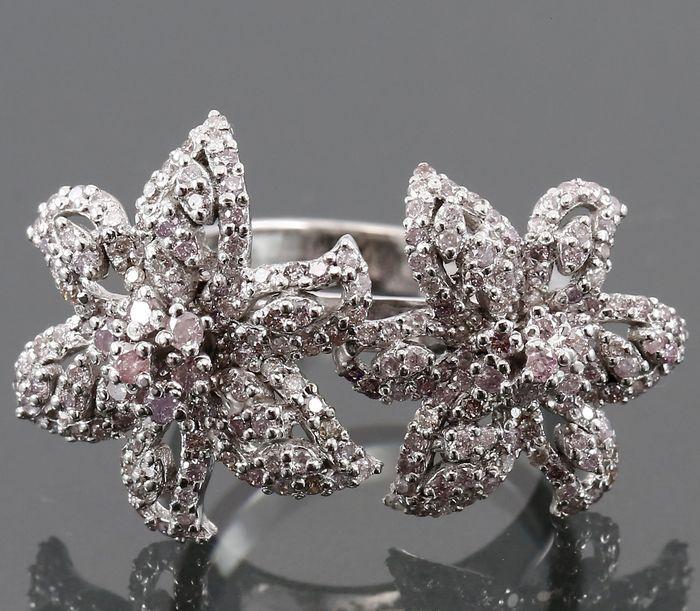 Witgoud exclusieve ster vis Cocktail Ring met roze diamanten  EUR 300.00  Meer informatie