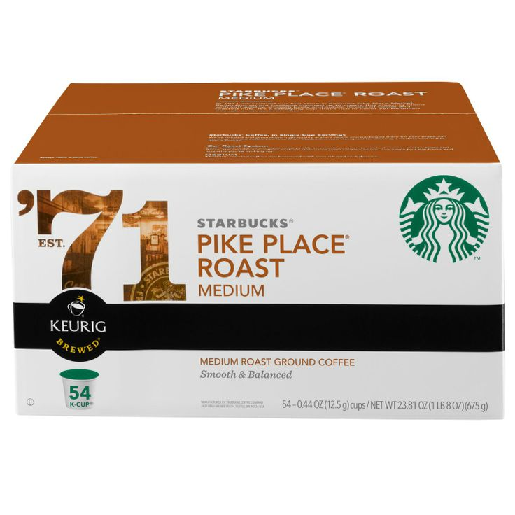 At last, Starbucks Pike Place K-Cups for the Keurig machine. A premium cup of coffee from a premium coffee machine.