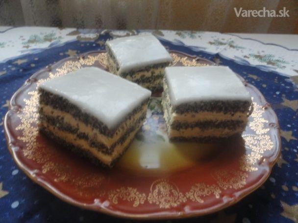 Makový koláč s vanilkovým krémom (fotorecept)