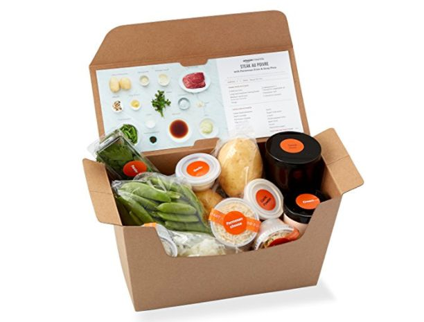 Amazon is selling prepackaged meal kits because groceries are so 2016