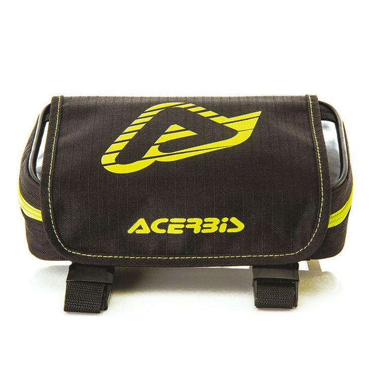 Εργαλειοθήκη tool bag από την εταιρεία Acerbis, σε κίτρινο - μαύρο χρώμα και με κωδικό 12972.318. Η συγκεκριμένη εργαλειοθήκη είναι κατασκευασμένη από πολυεστέρα και διαθέτει τριπλό σύστημα κλειδώματος με φερμουάρ, βέλκρο και πόρπες.