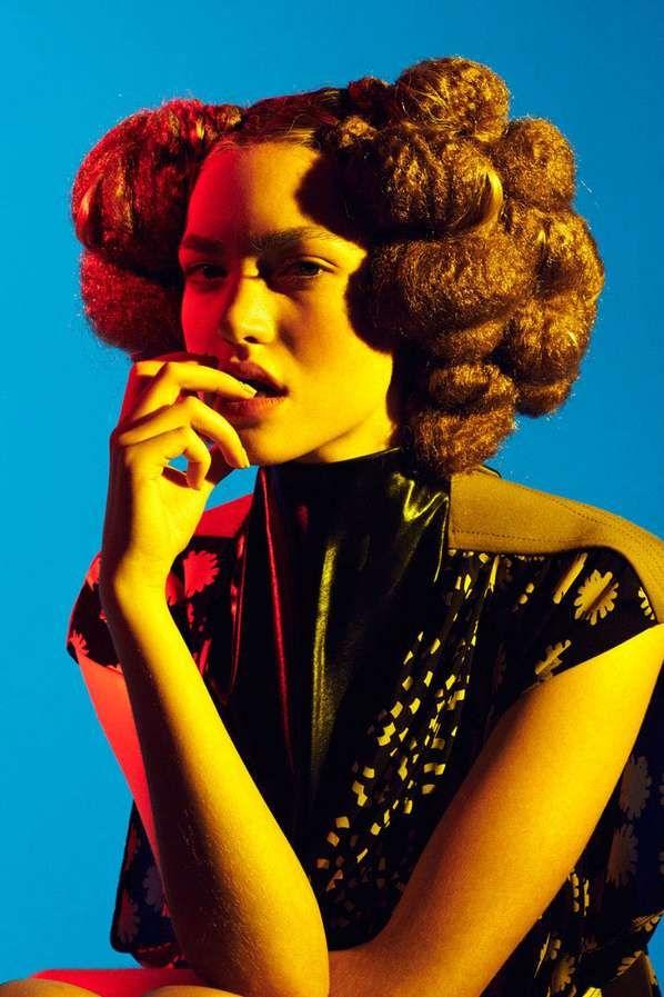 Hair Sculpture Editorials - The Hairy Spring/Summer Issue of Garage Magazine (GALLERY)