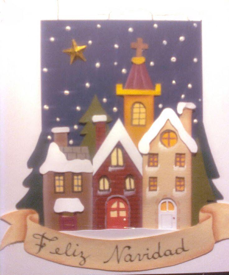 tarjeta realizada a mano con papeles artisticos y troquelada a mano