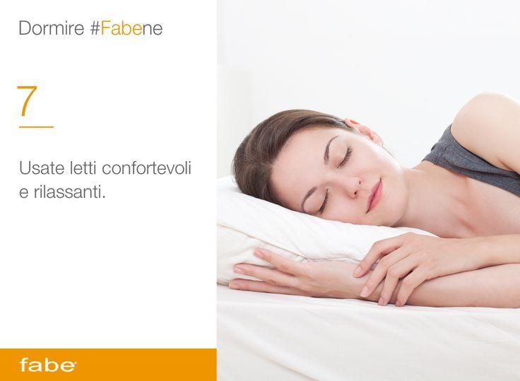 Usate letti confortevoli e rilassanti #dormire #fa #bene #dormire #bene #consigli #fabe