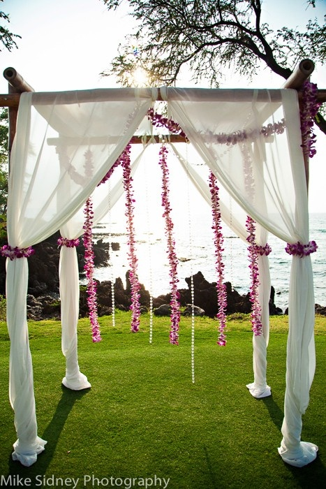 4 Post Bamboo Arch With Hanging Orchid Lei Www