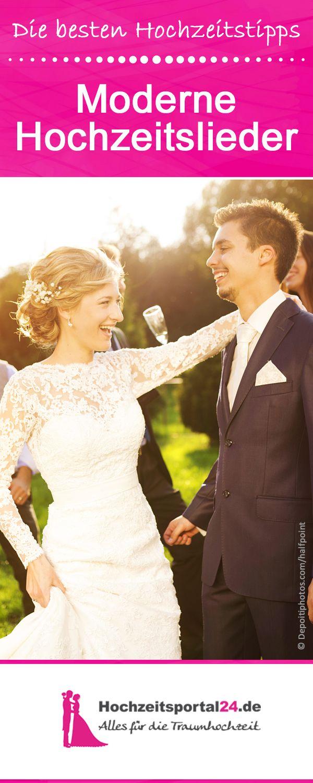 Moderne Hochzeitslieder auf Deutsch und Englisch