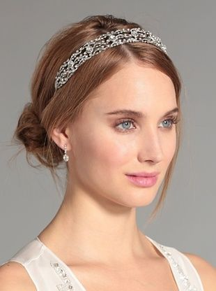 72% OFF Nina Women's Bridgett Swarovski Crystal Headband, Silver